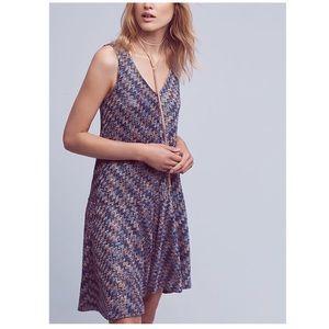 Anthropologie Maeve | chevron knit dress